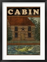 Framed Welcome To The Cabin