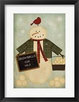 Framed Holiday Snowballs