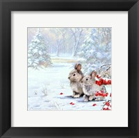 Framed Woodland Rabbits