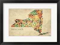 Framed New York County Map