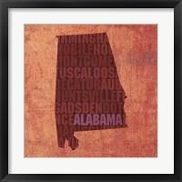 Framed Alabama State Words