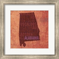 Framed Alabama State Words