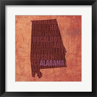 Alabama State Words Framed Print