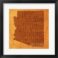 Framed Arizona State Words
