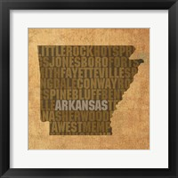 Framed Arkansas State Words