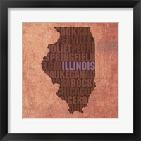 Framed Illinois State Words