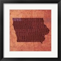 Framed Iowa State Words