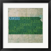 Framed Kansas State Words