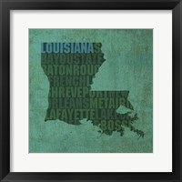 Framed Louisiana State Words