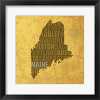 Framed Maine State Words