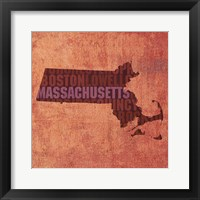 Framed Massachusetts State Words