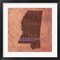 Framed Mississippi State Words