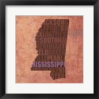 Framed Mississippi State Words