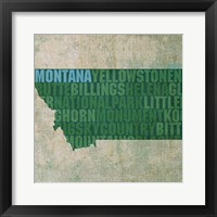 Framed Montana State Words