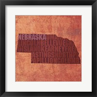 Framed Nebraska State Words