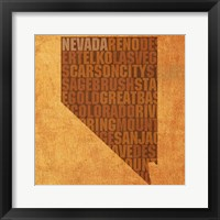 Framed Nevada State Words