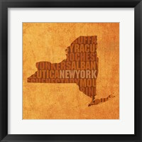 Framed New York State Words