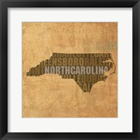 Framed North Carolina State Words