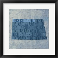 Framed North Dakota State Words