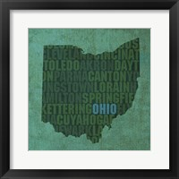 Ohio State Words Framed Print