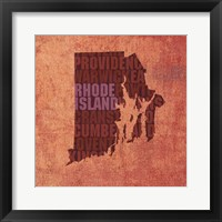 Framed Rhode Island State Words