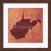 Framed West Virginia State Words