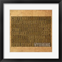 Framed Wyoming State Words