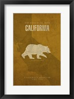 California Poster Framed Print