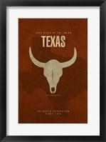 Texas Poster Framed Print