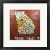 Framed Georgia Map