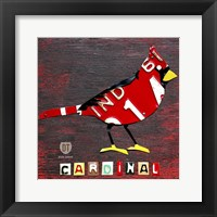 Framed Indiana Cardinal