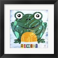 Framed Ribbit The Frog