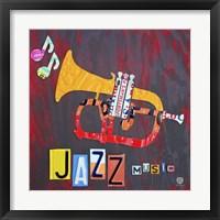 Framed License Plate Art Jazz Series Piano II