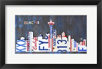 Framed Seattle Skyline License Plate Art