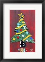 Framed Noel Christmas Tree License Plate Art