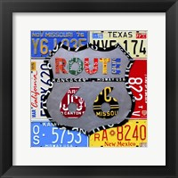 Framed Route 66 Road Sign