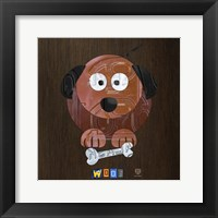 Framed Woof The Dog