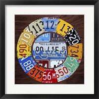 Framed Clock Square
