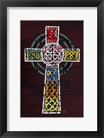 Framed License Plate Art Celtic Cross