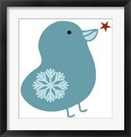Framed Snowflake Bird