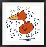 Framed Music Bird
