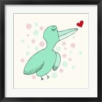 Framed Dreamy Love Bird