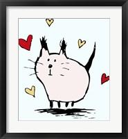 Framed Little Pink Cat