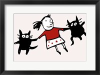 Framed Dancing Cats