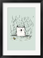 Framed Soggy Cat