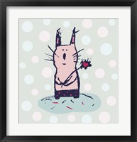 Framed Polka Dot Kitty