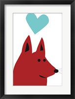 Framed Happy Red Dog