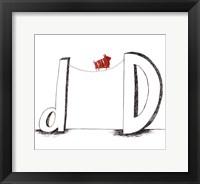Framed D Is For Dog