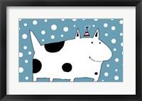 Framed Snow Dog