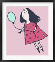 Framed Balloon Girl Pink